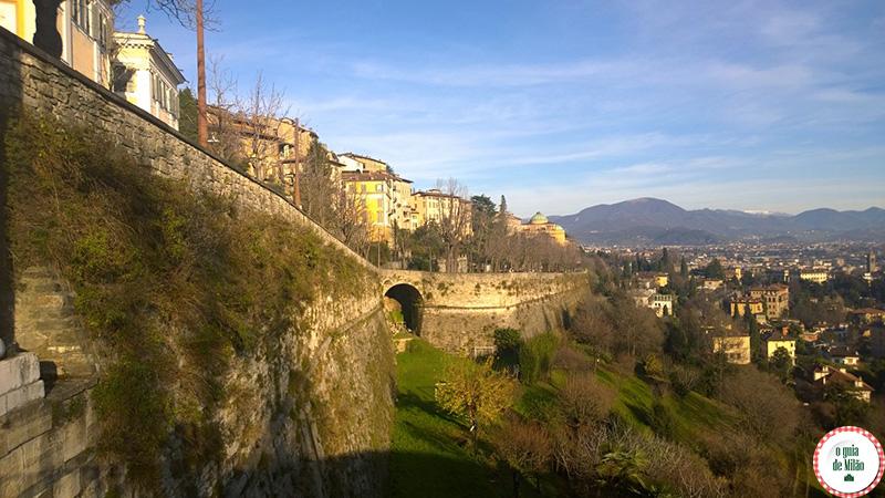 As muralhas de Bérgamo