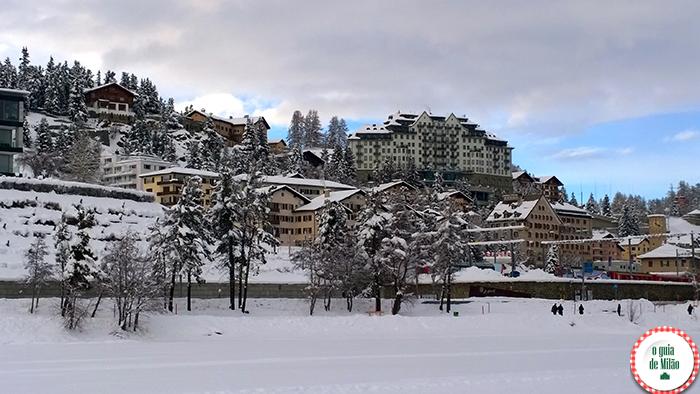 destinos para curtir a neve na Europa Saint Moritz na Suíça