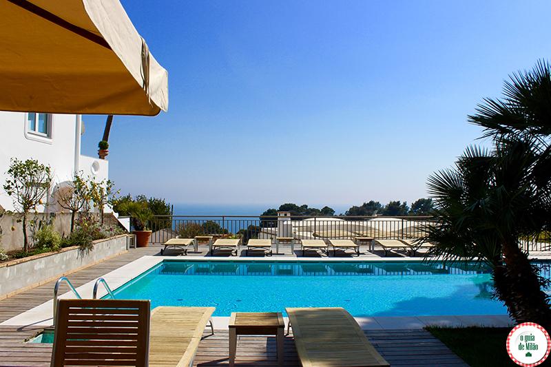 Hotel Canasta na ilha de Capri Nápoles