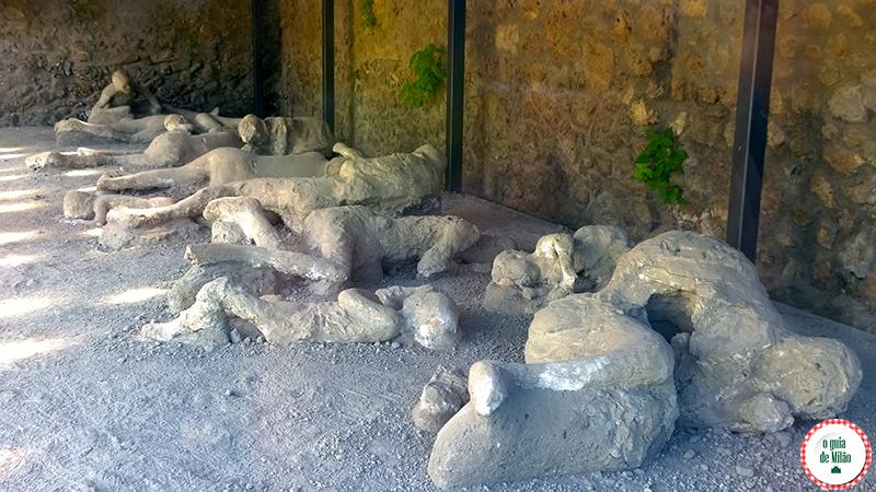 Vítimas de Pompeia Corpos de gesso Nápoles