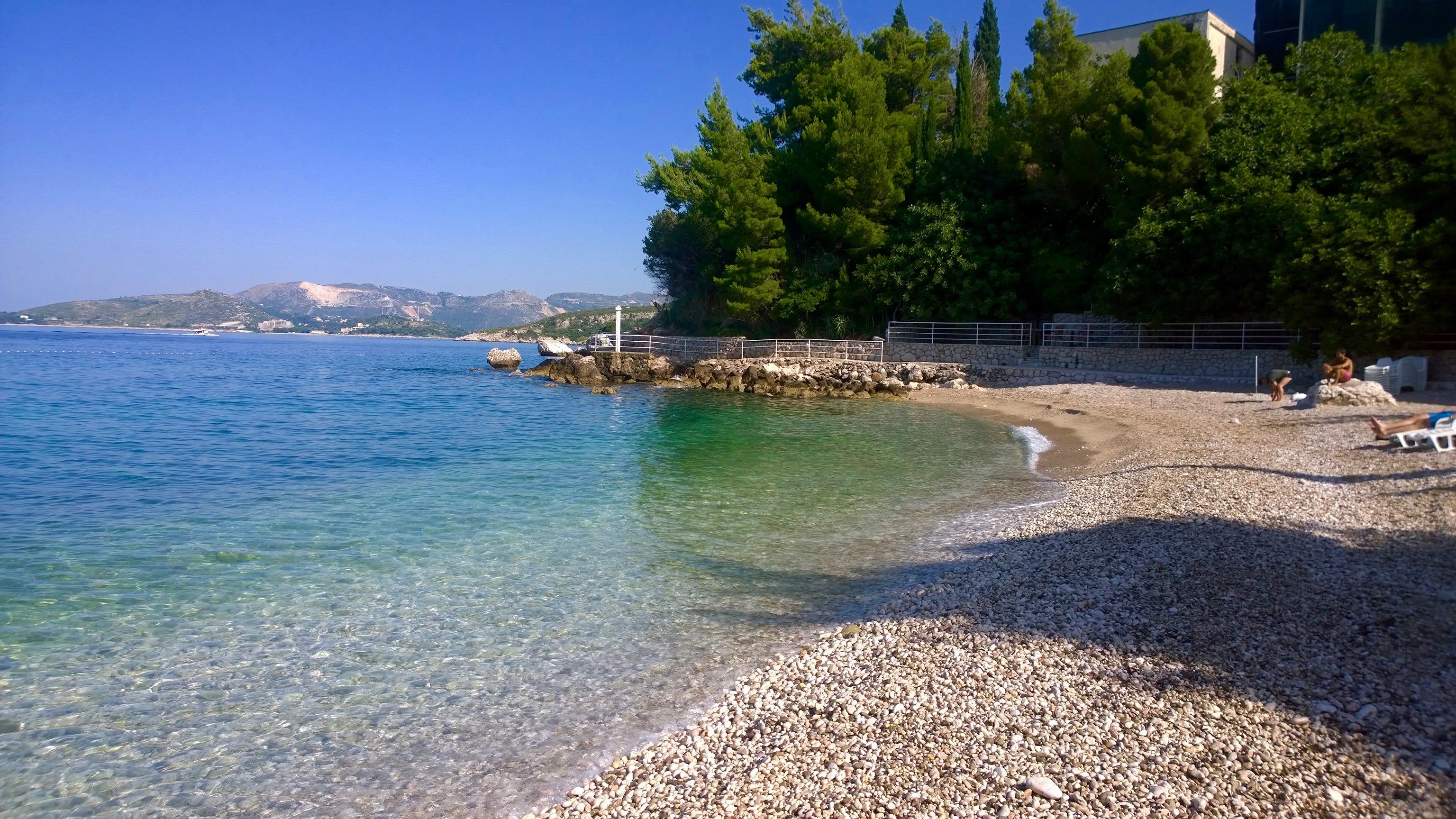 Praias em Dubronik Plat Croácia