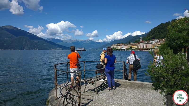 A cidade de Bellagio no Lago de Como