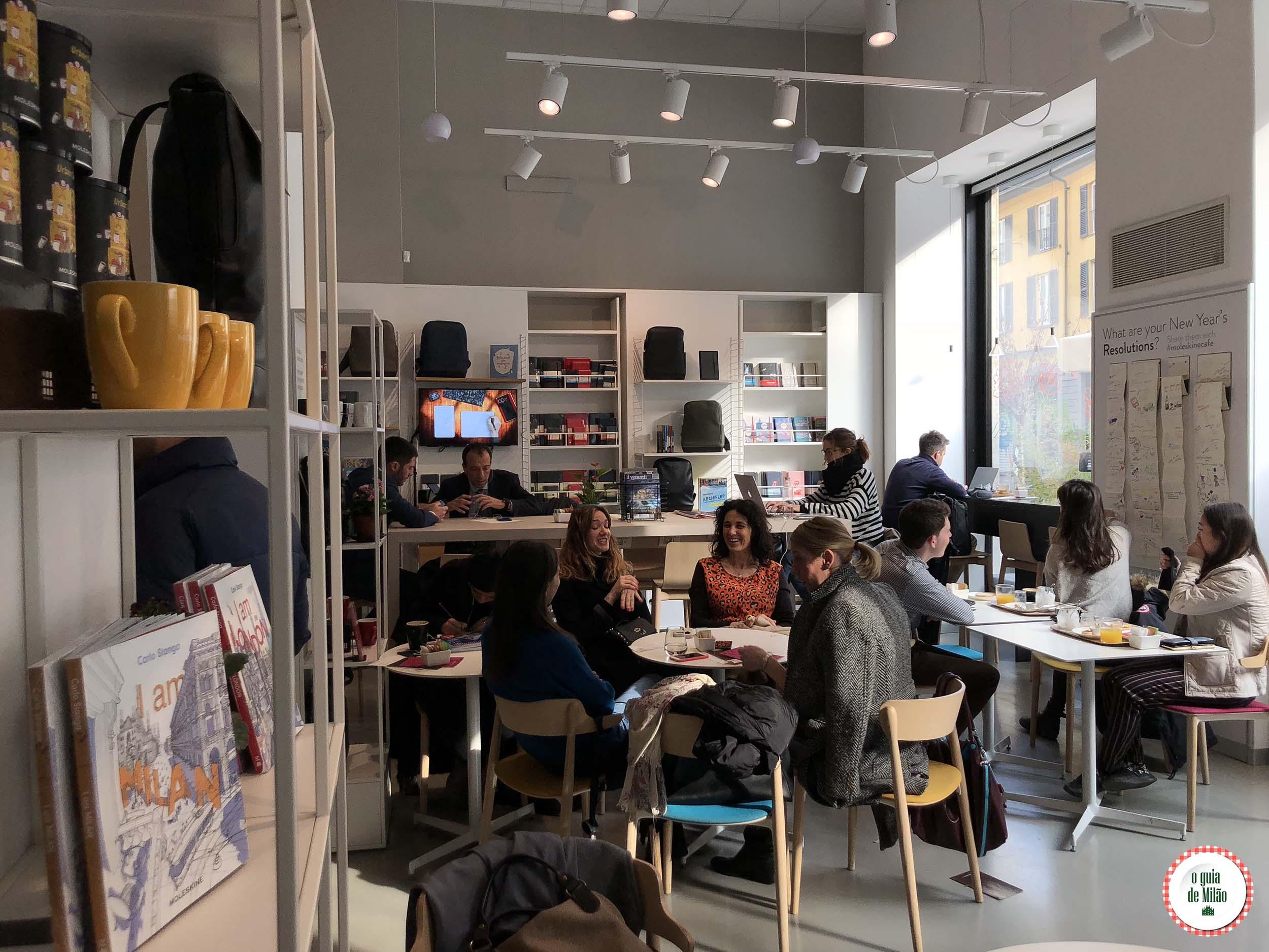 Moleskine Café em Milão