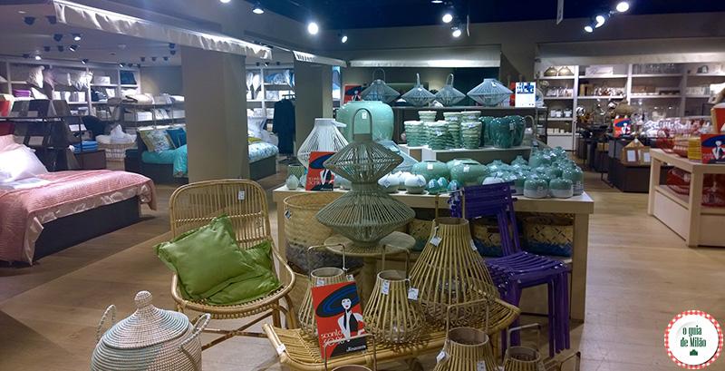Artigos para casa Onde fazer compras no centro de Milão