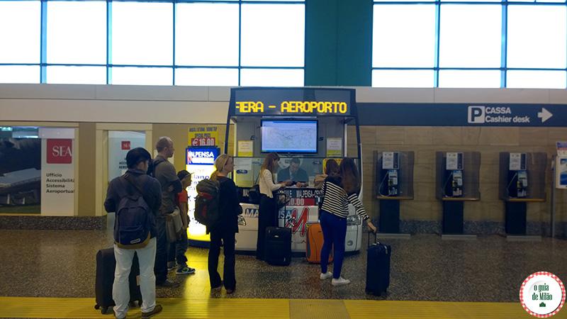 Do aeroporto de Malpensa ao centro de Milão