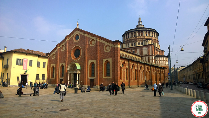 Igrejas de Milão A igreja de Santa Maria delle Grazie