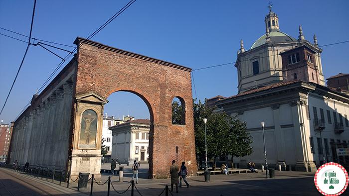 Igrejas na Itália As principais igrejas de Milão - A Igreja de San Lorenzo Maggiore em Milão