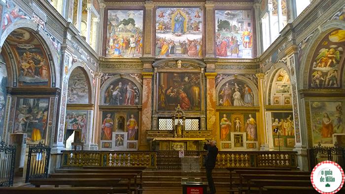 Igrejas na Itália As principais igrejas de Milão - A Igreja de San Maurizio al Monastero Maggiore 2