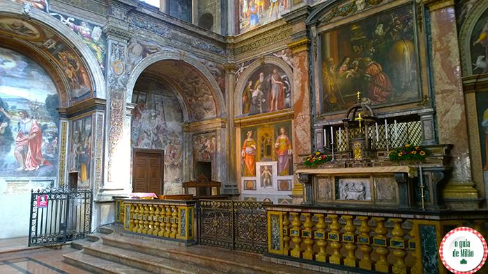 Igrejas na Itália As principais igrejas de Milão - A Igreja de San Maurizio al Monastero Maggiore
