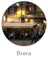 O bairro de Brera em Milão