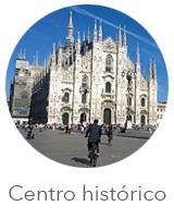 O centro histórico de Milão