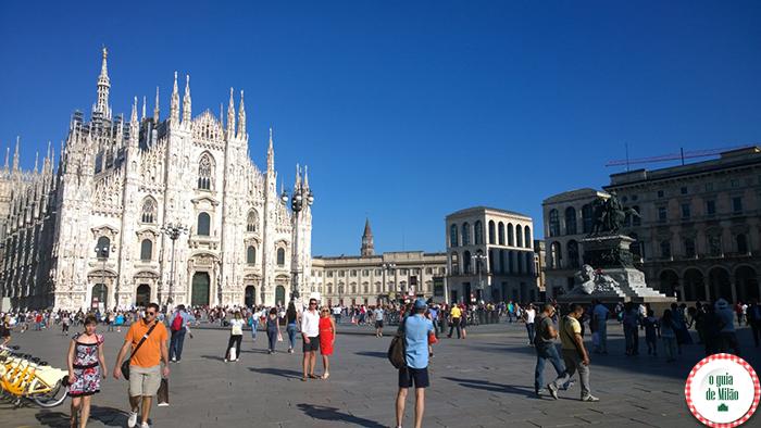 O clima de Milão A temperatura média no verão de Milão turismo em Milão o Duomo