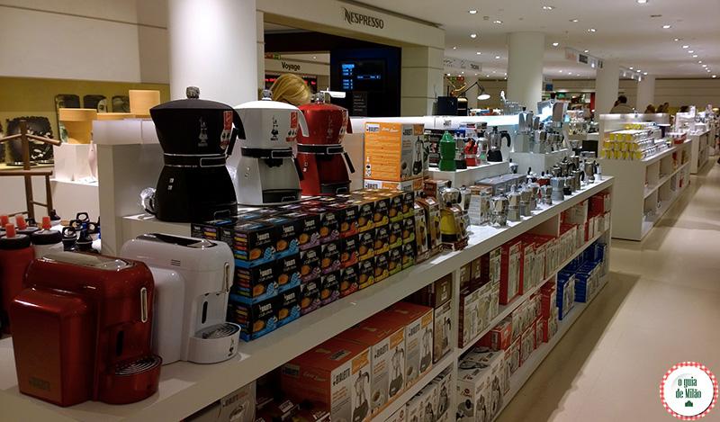 Onde fazer compras em Milão Cafeteira Nespresso