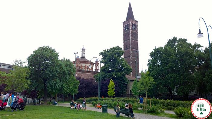 Pontos de interesse em Milão Parque Giovanni Paolo II ou Parco delle basiliche