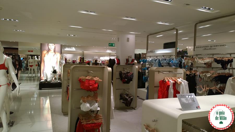 Roteiro de compras em Milão a loja La Perla de Milão