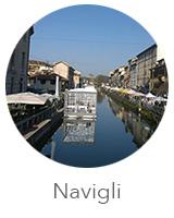 O bairro dos canais em Milão Navigli