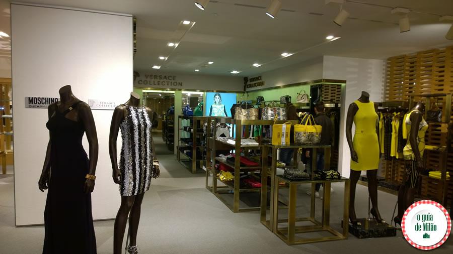 o que fazer em Milão compras na loja de Versace em Milão Rinascente