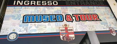 o museu do Inter e do Milan no estádio San Siro