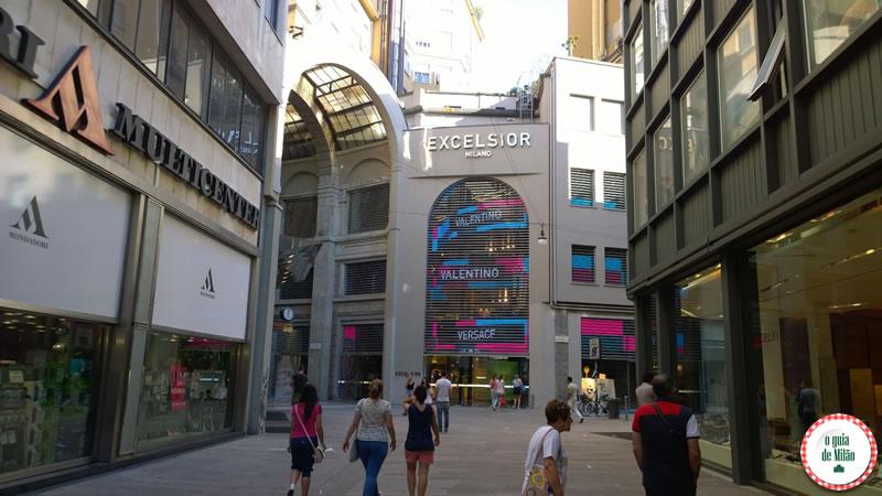 onde fazer compra no centro de Milão