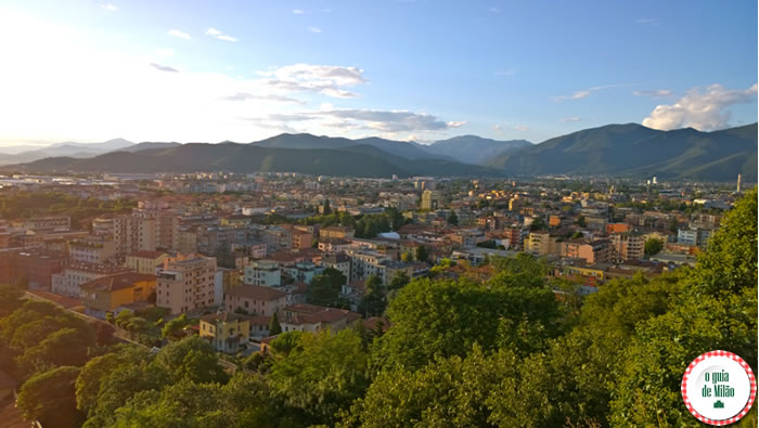 Vista do Castelo de Brescia