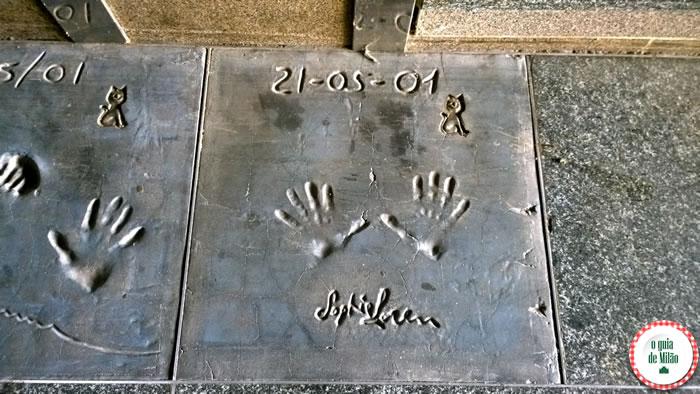 A walk of fame de Milão a Calçada da fama no centro de Milão 2