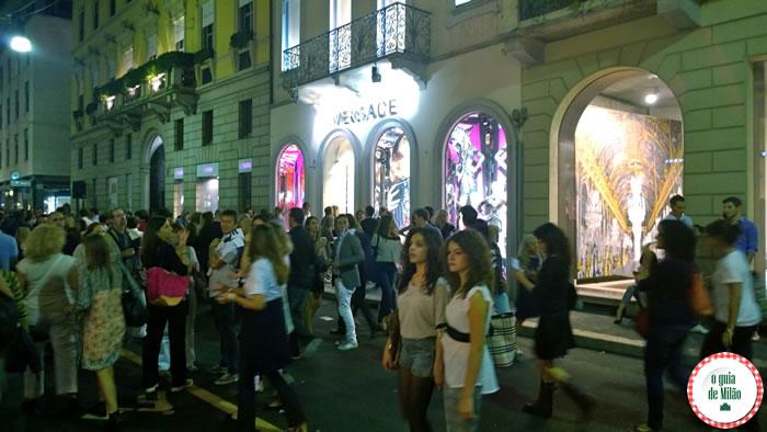 Vogue Fashion's Night Out Milão 2014 - Versace