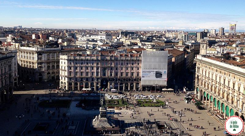 terraço do Duomo com vista para diversos pontos turísticos de Milão