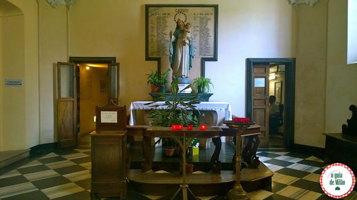Capela de ossos igreja San Bernardino Milão 2