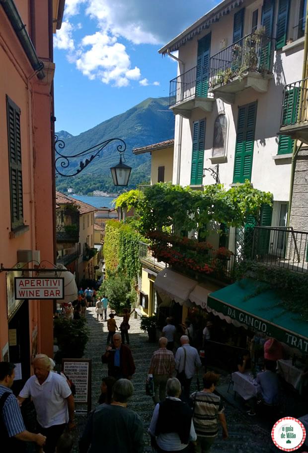 A bela Bellagio no lago de Como