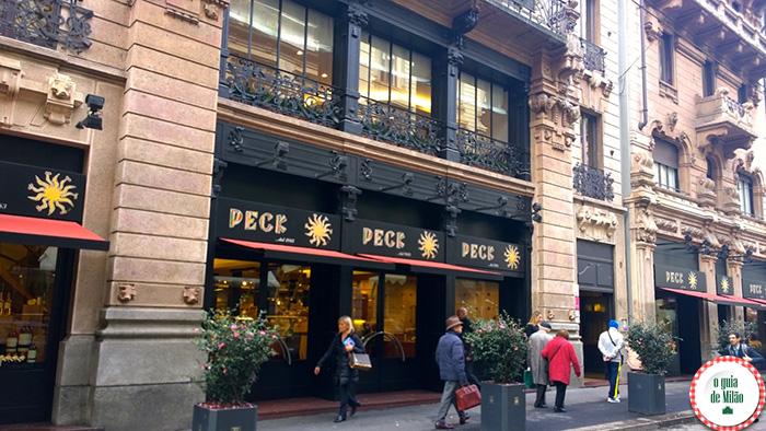 Peck gastronomia em Milão onde comprar vinho e comida típica