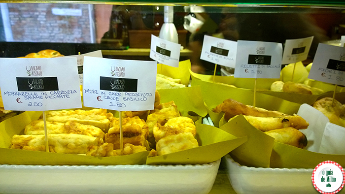 Filé de bacalhau, mozzarella, polpetta...
