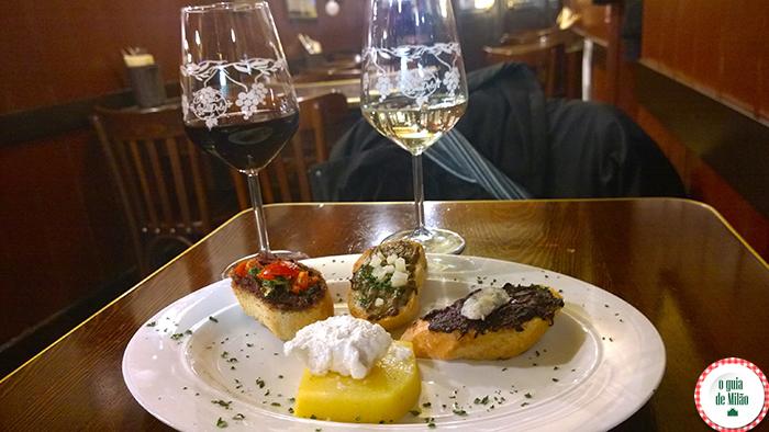 Polenta com bacalhau um dos pratos típicos de Veneza