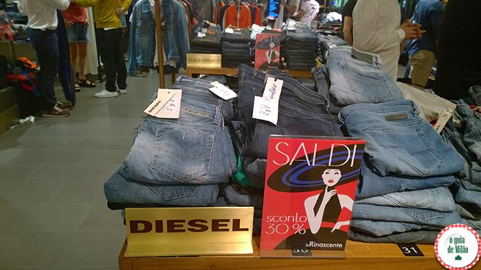 Shopping em Milão Saldos em Milão Liquidação em Milão