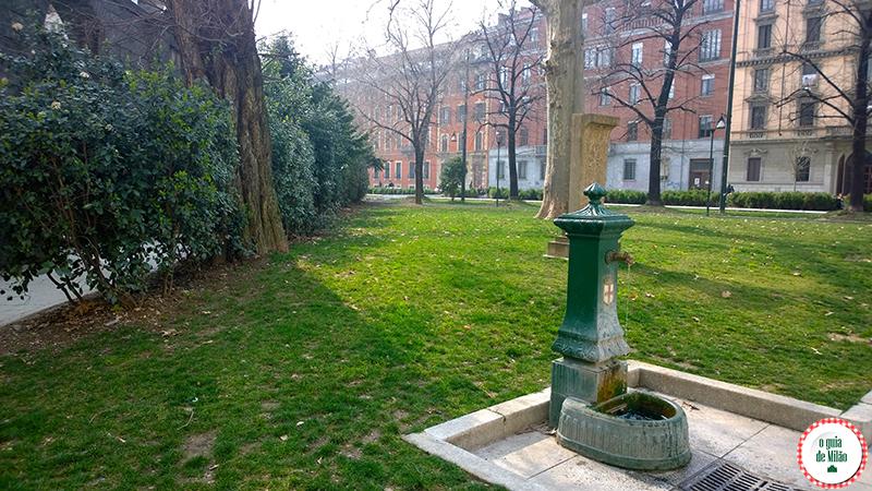água gratuita em Milão a água potáve