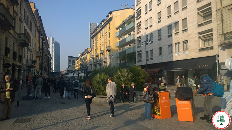 Porta Nuova o bairro mais novo de Milão