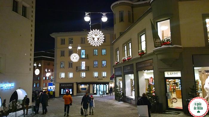quais são as estações e quanto custa esquiar na Suíça St Moritz