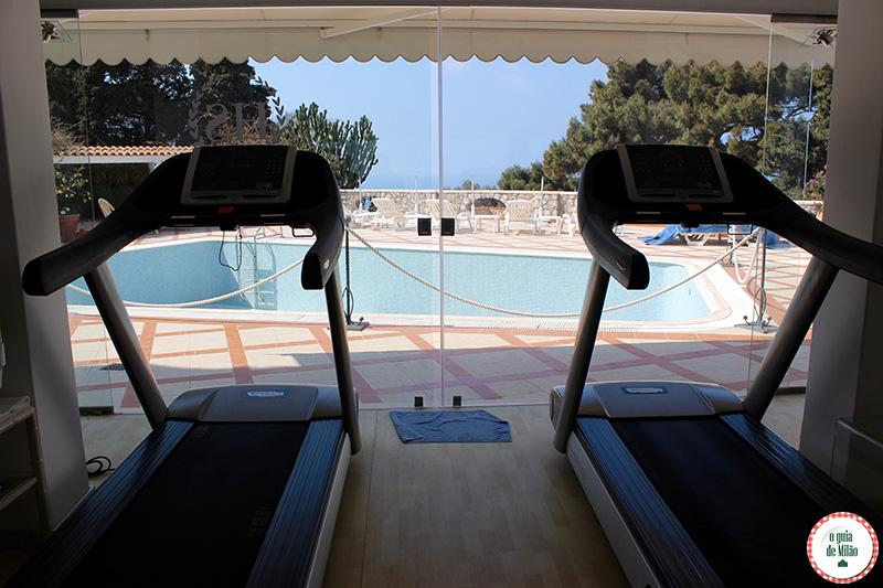 Hotel em Capri a academia do Hotel La Scalinatella de Capri