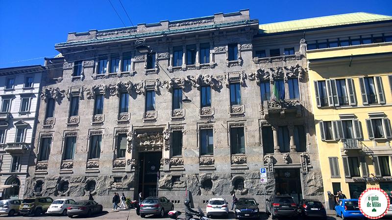 o palácio Castiglioni no bairro Porta Venezia de Milão