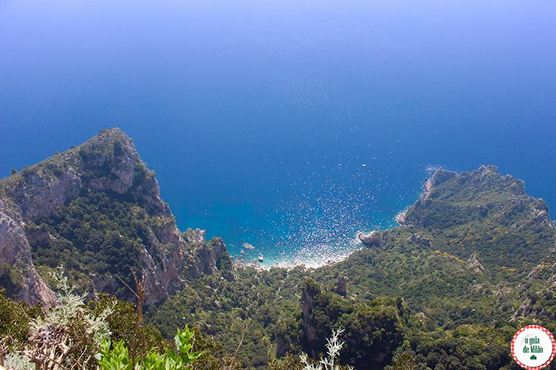 ilha de Capri o monte Solaro em Anacapri