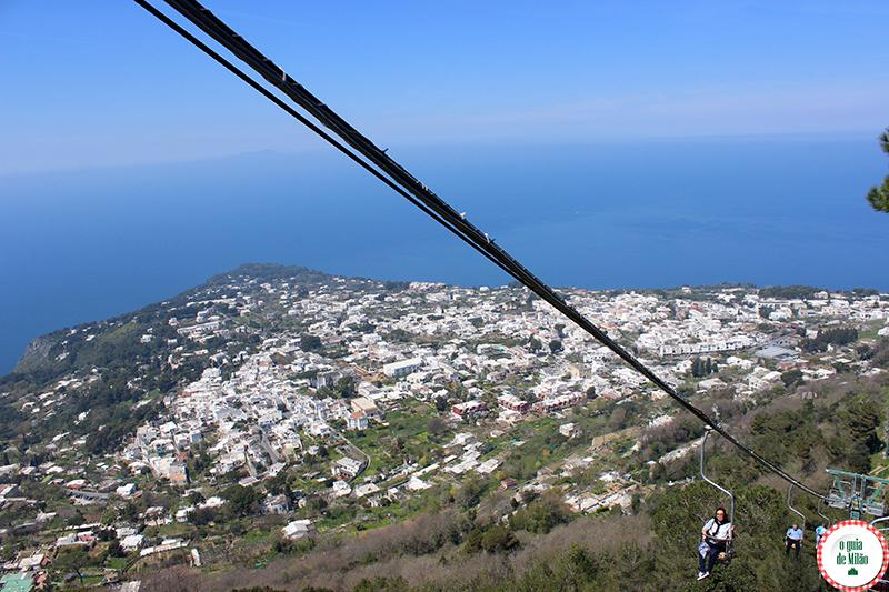 Pontos de interesse turistico em Nápoles Capri e Anacapri