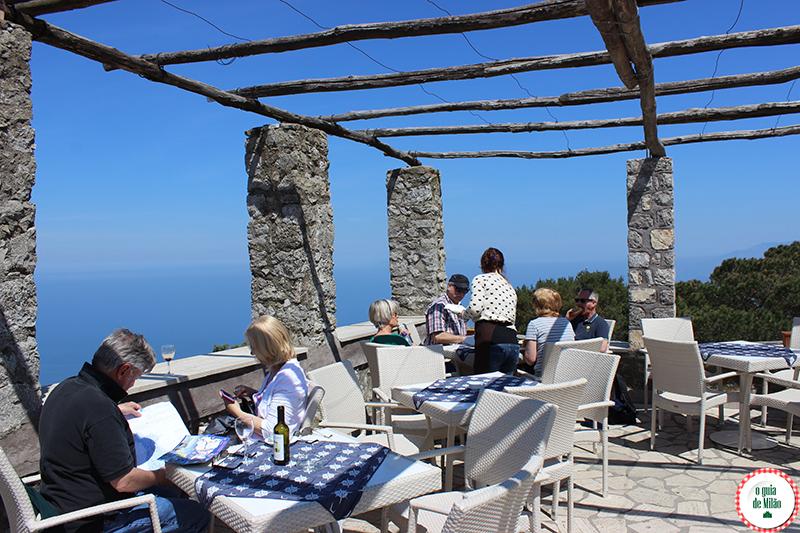 bares e restaurantes em Capri e Anacapri