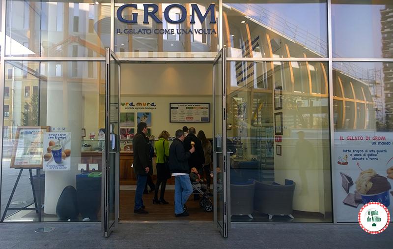 Sorveteria em Milão GROM onde comer o tipico e tradicional sorvete italiano