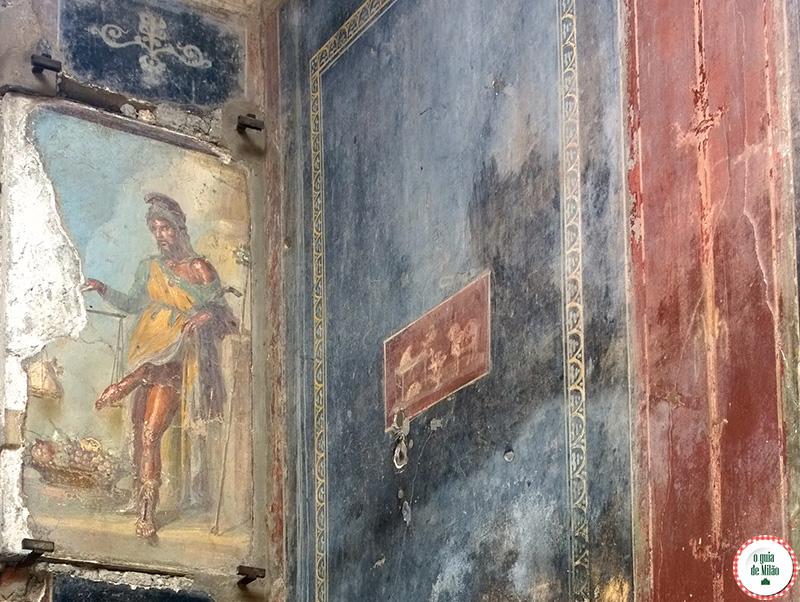 Priapo Deus da fertilidade Pontos turísticos Pompeia
