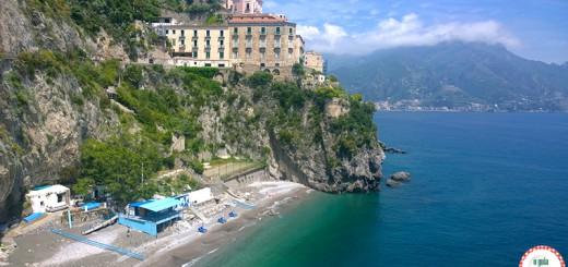 Praia de Castiglione Amalfi Nápoles Itália