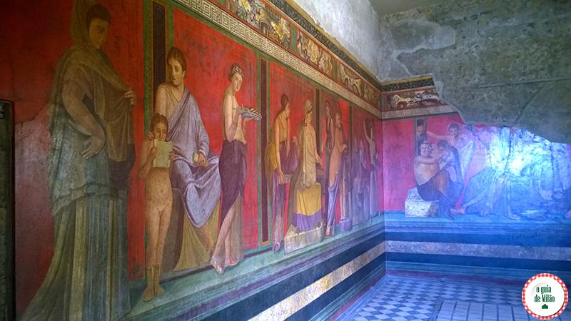 Villa dei misteri Pompeia Nápoles Turismo em Pompeia