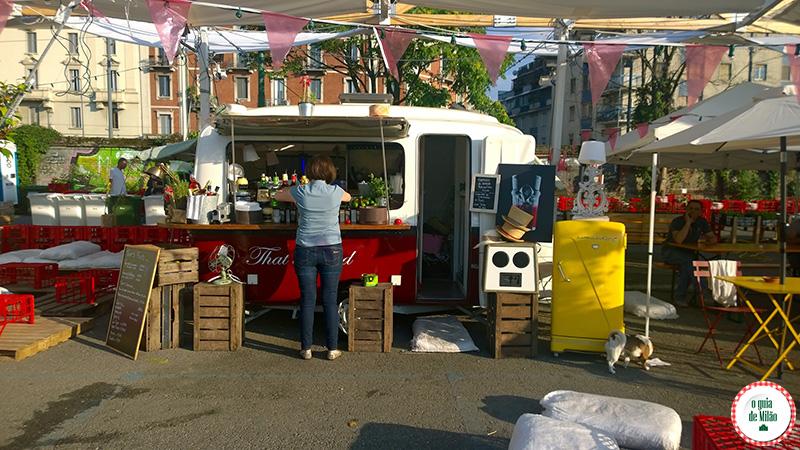 Comida de rua em Milão