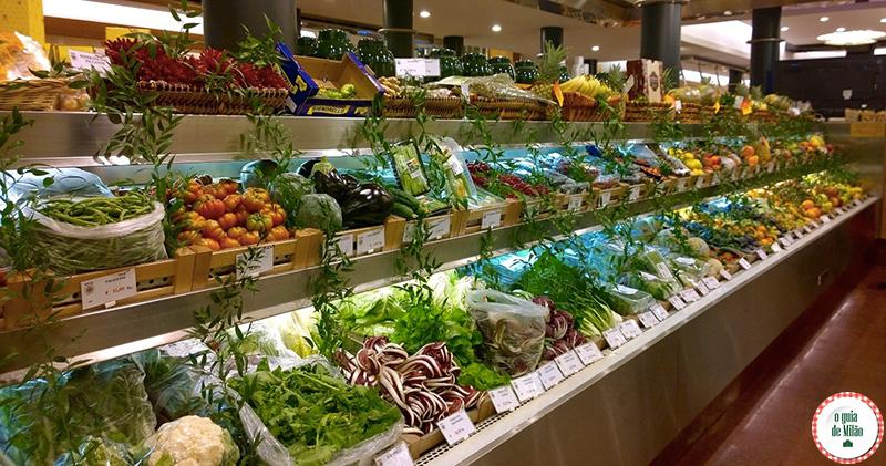 Lojas gourmet no centro de Milão