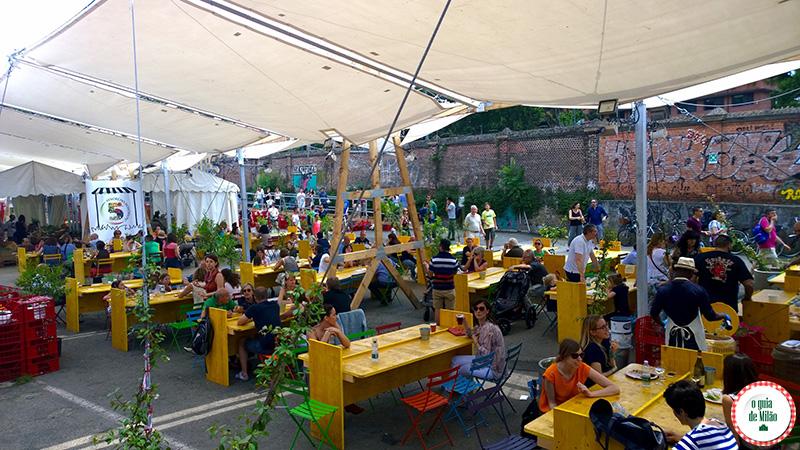 Mercado Metropolitano bairro Navigli em Milão