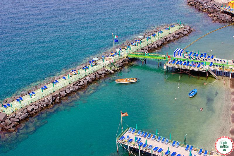 O que fazer na costa Sorrentina as praias de sorrento