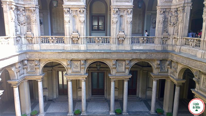 Arquitetura em Milão Museu Palácio Marino